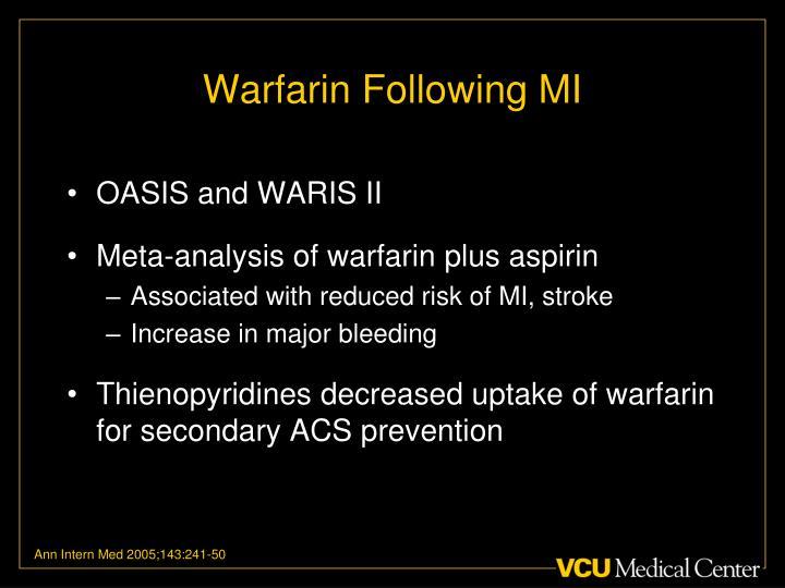 Warfarin Following MI