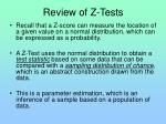 review of z tests