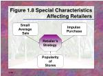 figure 1 8 special characteristics affecting retailers