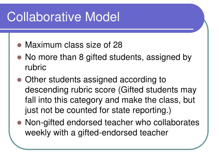 Collaborative Model