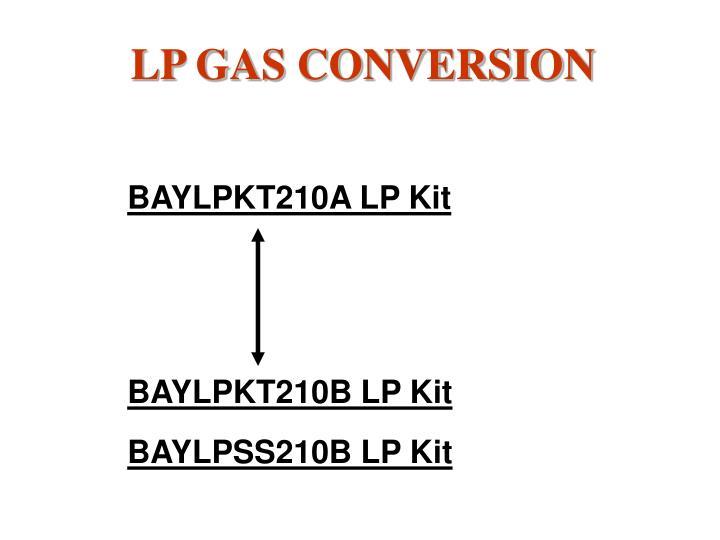 LP GAS CONVERSION