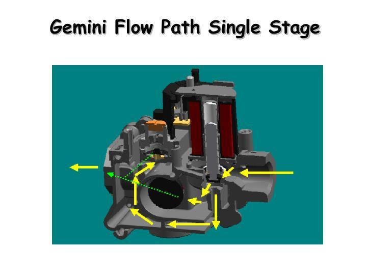 Gemini Flow Path Single Stage