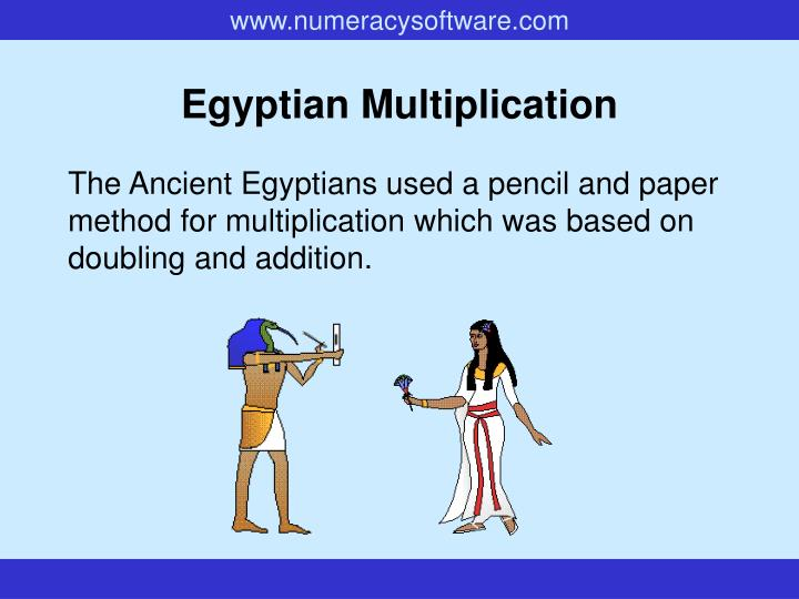egyptian multiplication n.