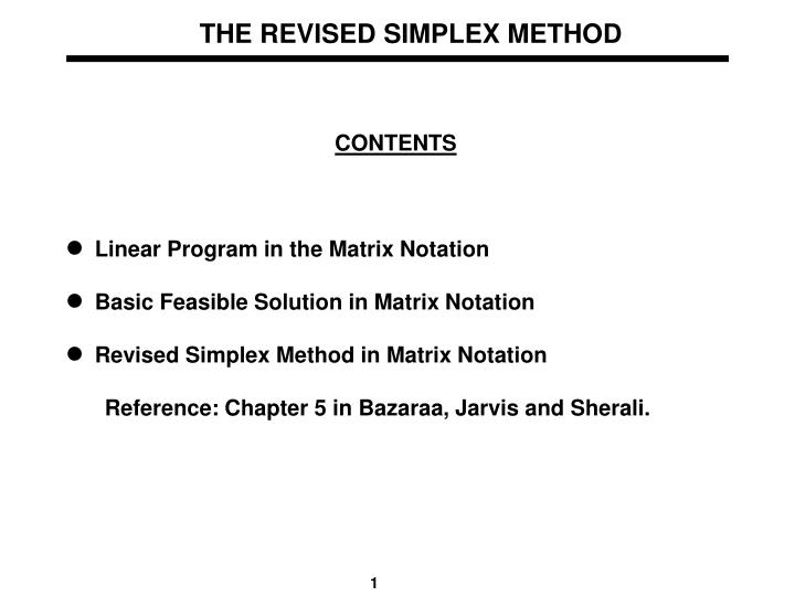 PPT - THE REVISED SIMPLEX METHOD PowerPoint Presentation - ID:6592034