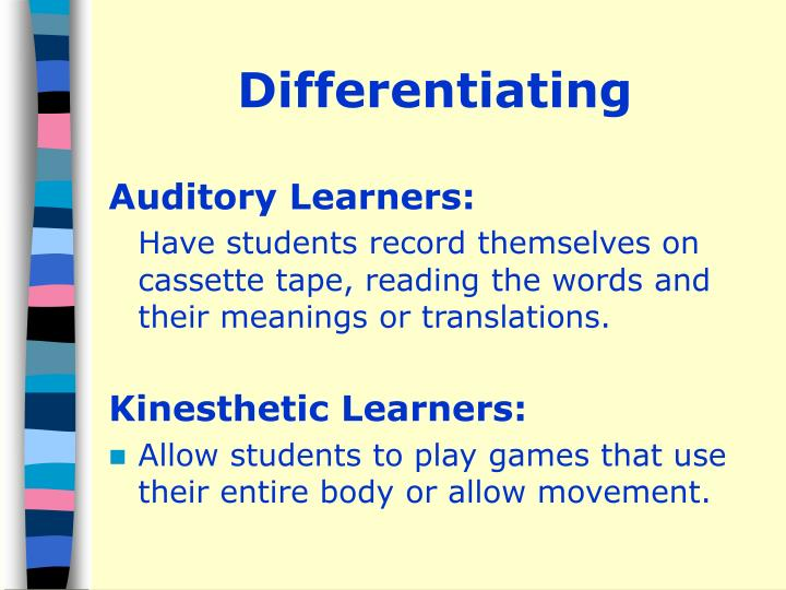 Differentiating