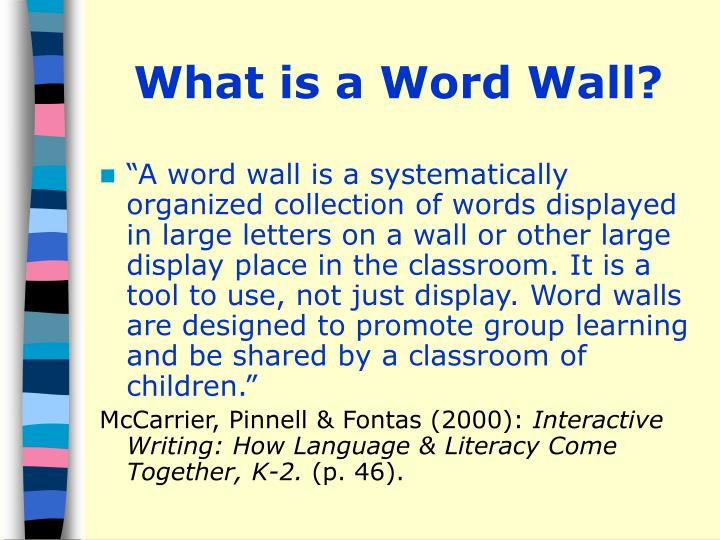 What is a Word Wall?