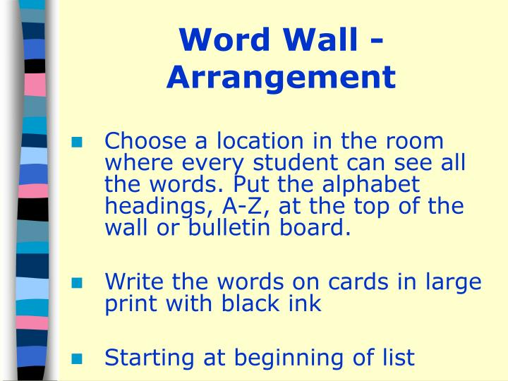 Word Wall - Arrangement