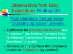 observations from early inspections findings 6