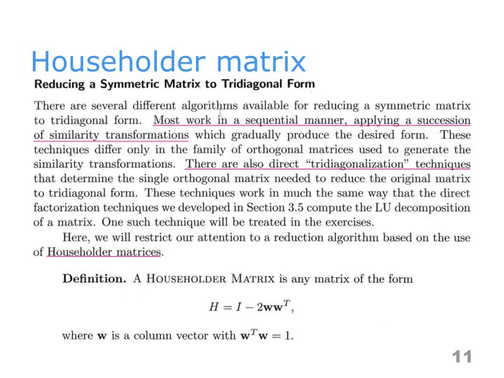 Householder matrix