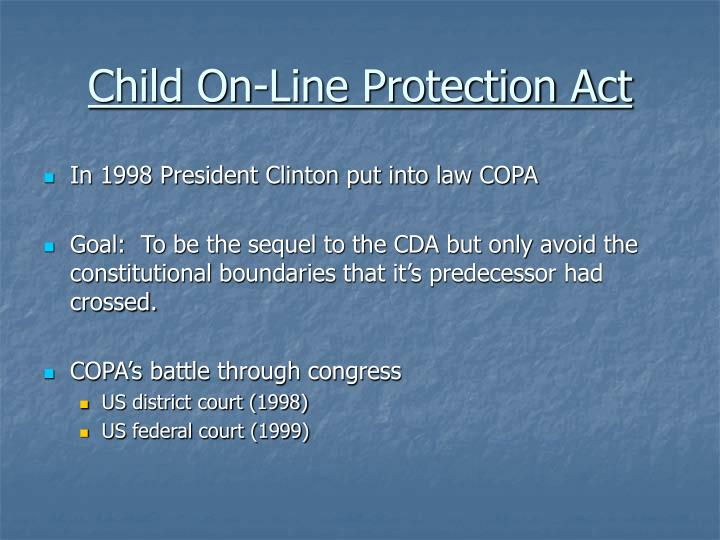 Child On-Line Protection Act