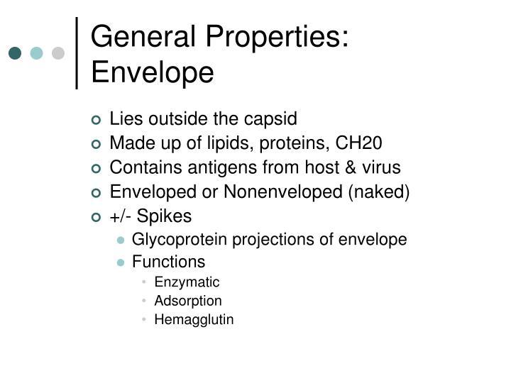 General Properties: Envelope
