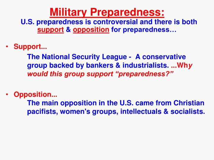 Military Preparedness: