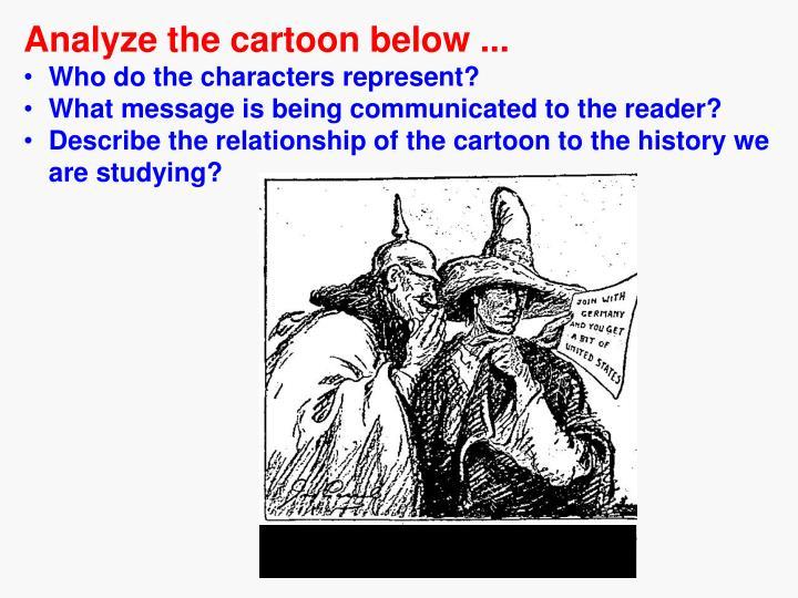 Analyze the cartoon below ...