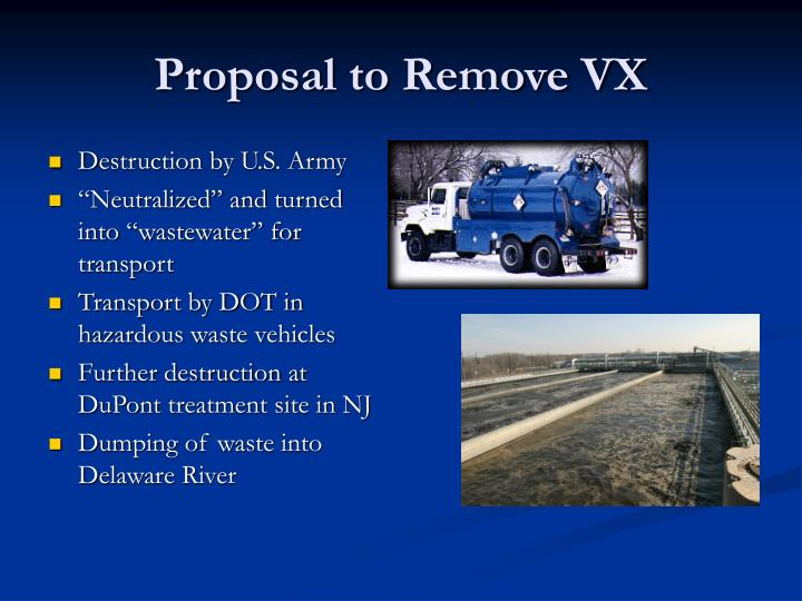 Proposal to remove vx