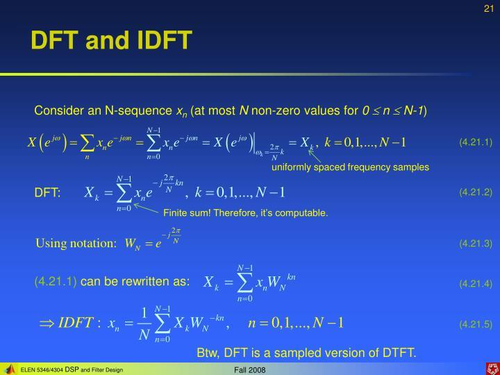 DFT and IDFT