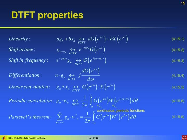 DTFT properties