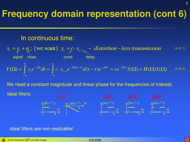 Frequency domain representation (cont 6)