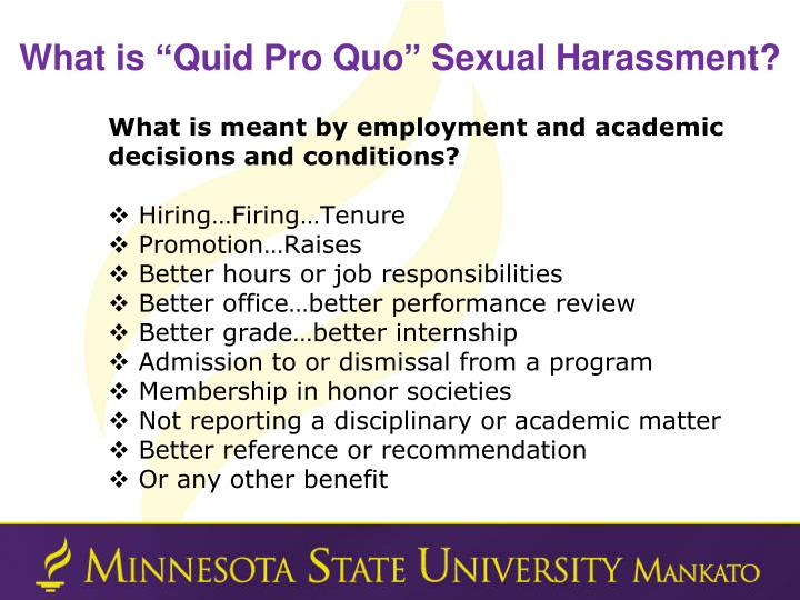 "What is ""Quid Pro Quo"" Sexual Harassment?"