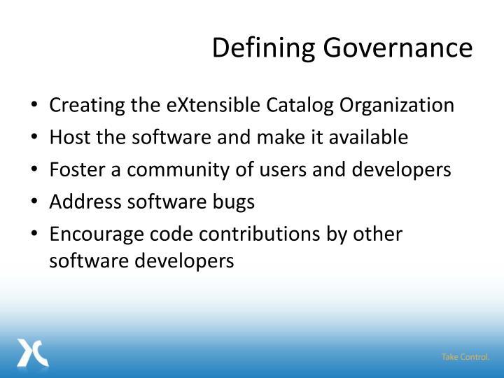 Defining Governance