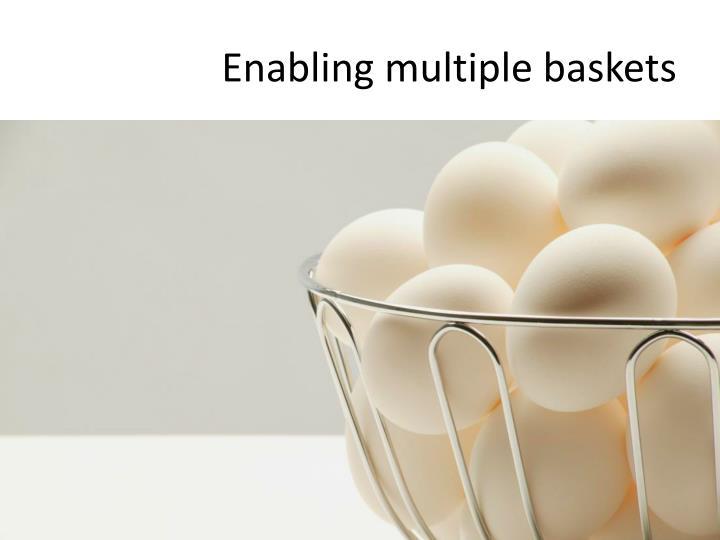 Enabling multiple baskets
