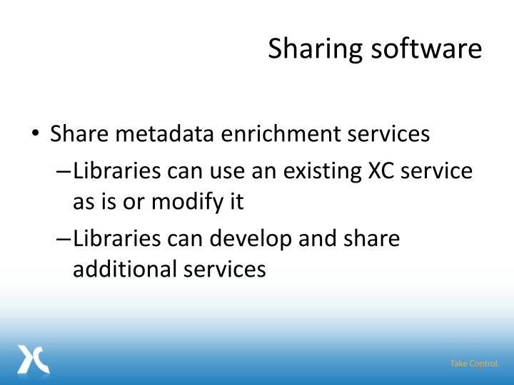 Sharing software
