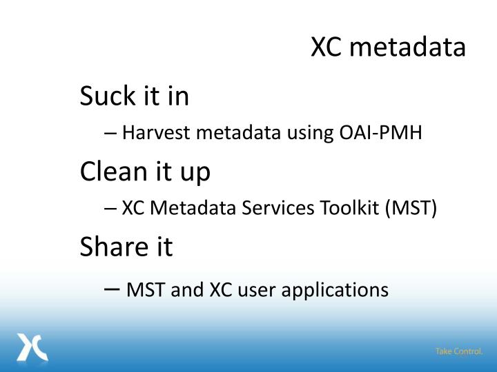 XC metadata