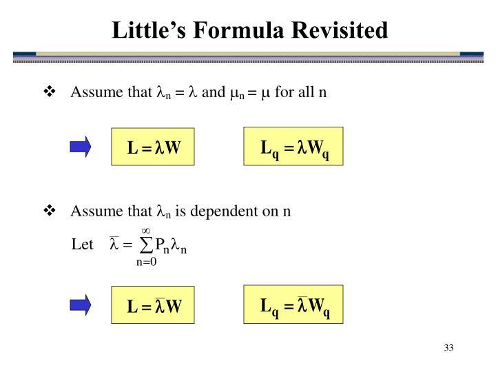 Little's Formula Revisited