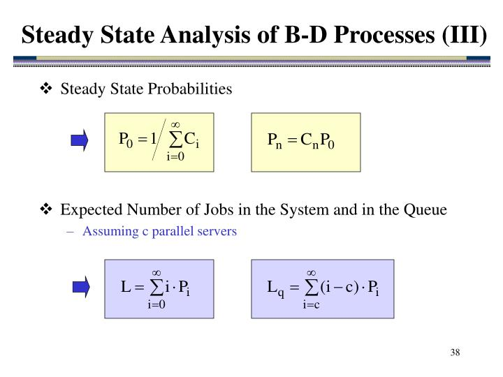 Steady State Analysis of B-D Processes (III)