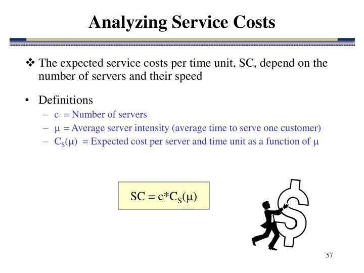 Analyzing Service Costs