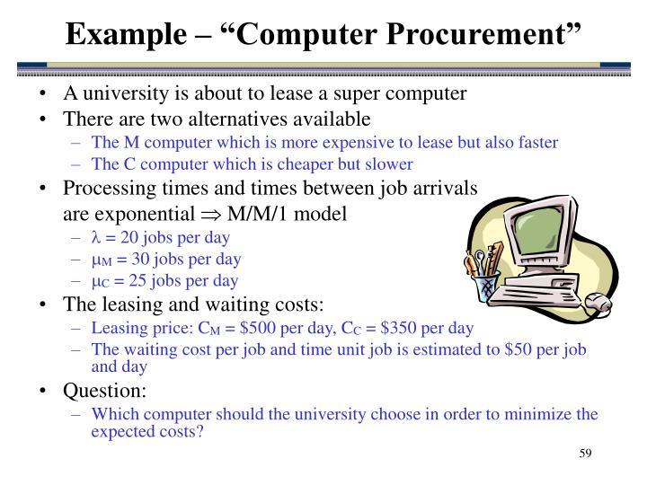 """Example – """"Computer Procurement"""""""