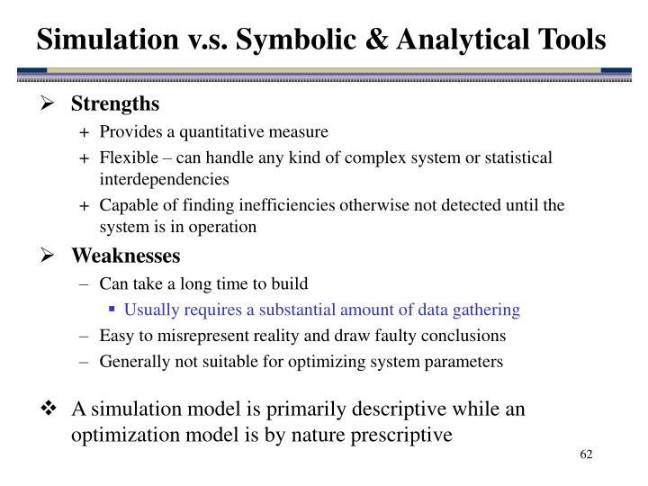 Simulation v.s. Symbolic & Analytical Tools
