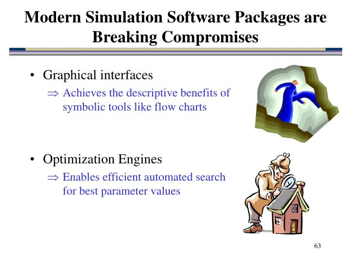Modern Simulation Software Packages are Breaking Compromises