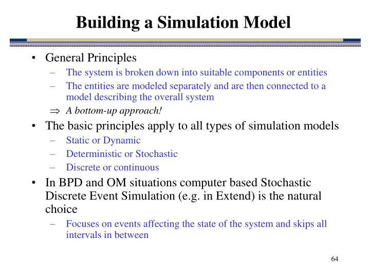 Building a Simulation Model