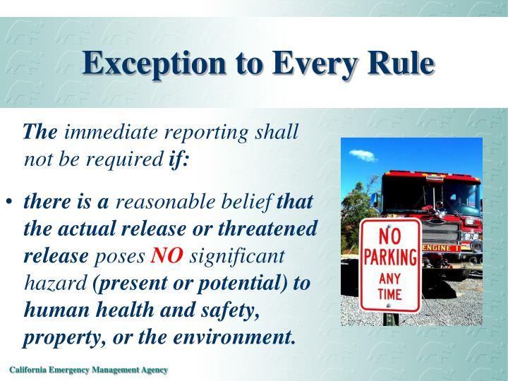 Exception to Every Rule