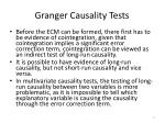 granger causality tests1