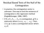 residual based tests of the null of no cointegration3