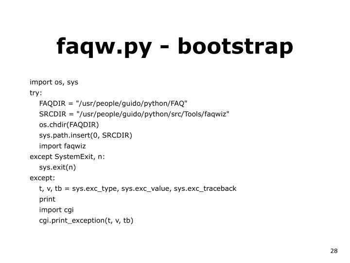 faqw.py - bootstrap