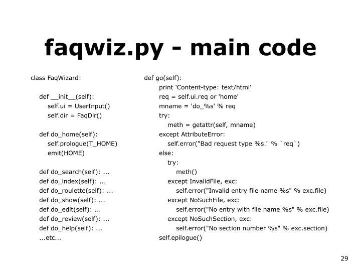 class FaqWizard:
