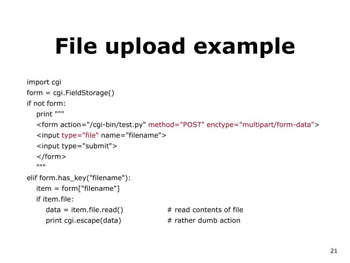 File upload example