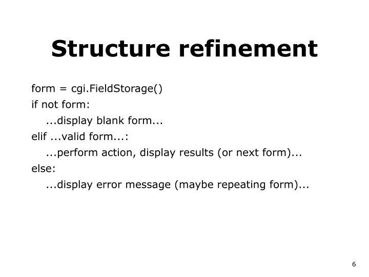 Structure refinement