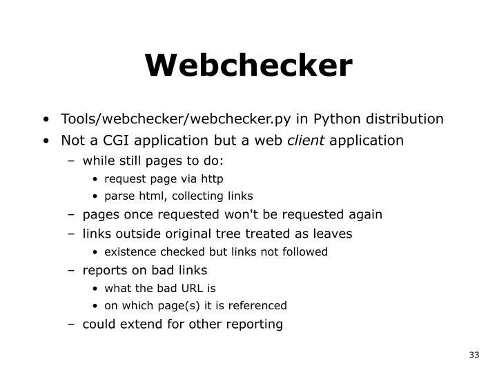 Webchecker