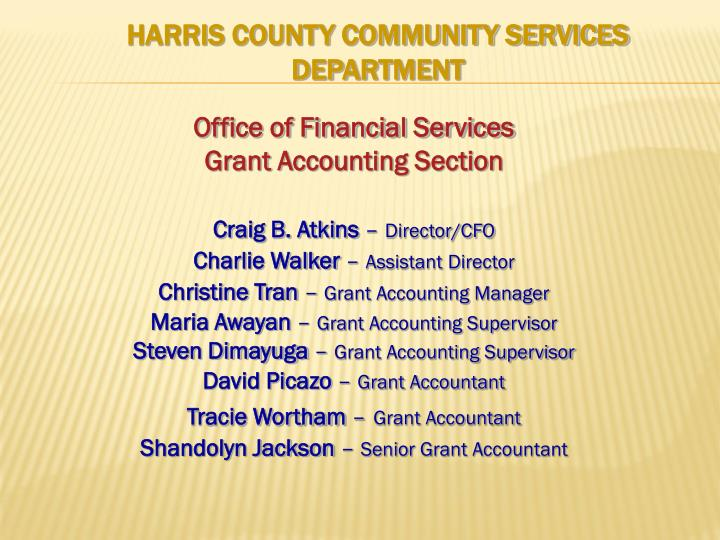 harris county community services department n.