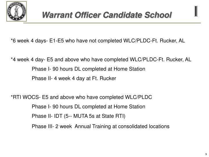 Warrant Officer Candidate School