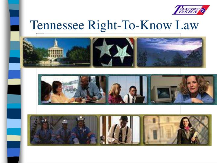Tennessee Right-To-Know Law