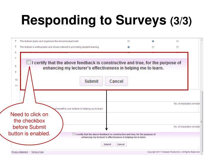 Responding to Surveys