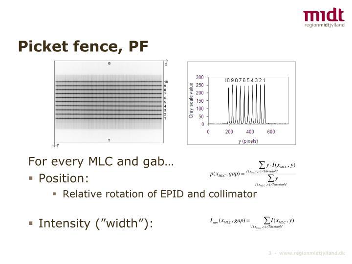 Picket fence pf