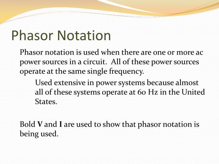 Phasor Notation