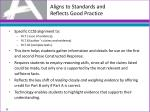 aligns to standards and reflects good practice