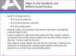 aligns to the standards and reflects good practice6