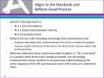 aligns to the standards and reflects good practice9